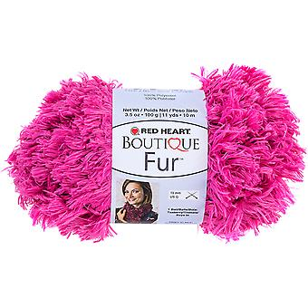 Red Heart Boutique Fur Yarn-Azalea