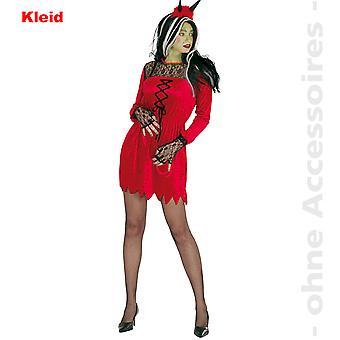 Satan kostym damer i sexiga djävulen djävul Halloween damer kostym
