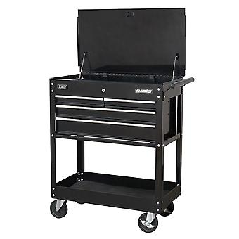 Sealey Ap850Mb Heavy-Duty Mobile Tool & Parts Trolley 4 Drawers & Lockable Top