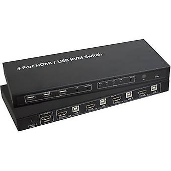 4 ports KVM changeover switch HDMI USB SpeaKa Professional