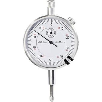 Dial gauge 10 mm TOOLCRAFT 821008 Reading: 0.01 mm