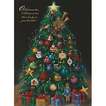 Christmas Tree Poster Print by Susan Comish