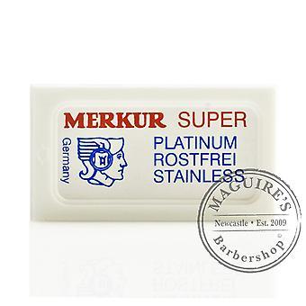 Merkur Super Razorblades de platino inoxidable doble filo (DE)