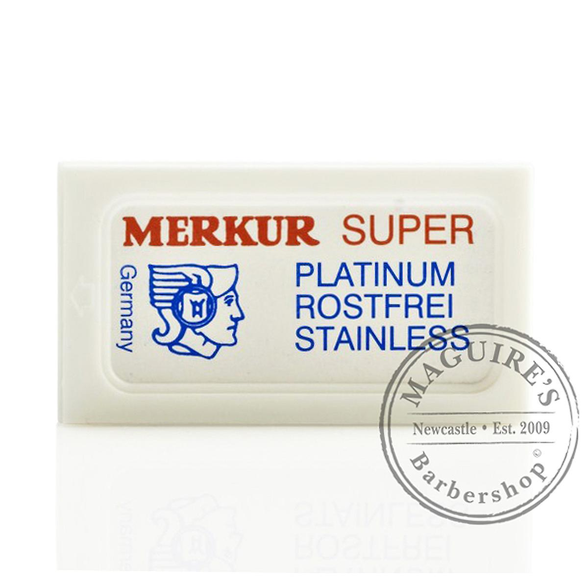Merkur Super Platinum Stainless Double Edge (DE) Razorblades