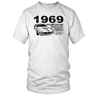 Mustang Boss 429 1969 auto d'epoca Mens T-Shirt