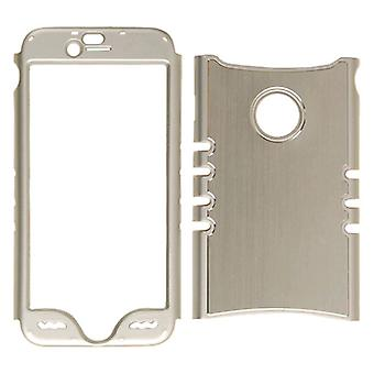 Onbeperkte cellulaire Rocker snap-on Metalen case voor Apple iPhone 6N-zilver met zilveren rand