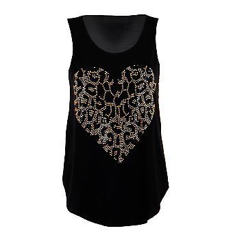 New Ladies Sleeveless Sequin Heart Pattern Vest Women's Top