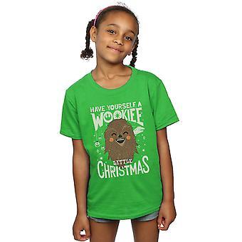 Star Wars Girls Wookiee Little Christmas T-Shirt