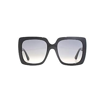 Gucci Swarovski Crystal Logo Oversize Square Sunglasses In Black