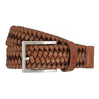 LLOYD Men's Belts Gürtel Herrengürtel Flechtgürtel Cognac 7587