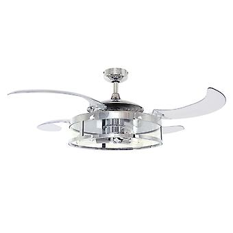 Retractable blade ceiling fan Fanaway Classic Chrome