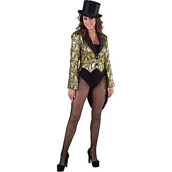 Women costumes  Tailcoat show Gold