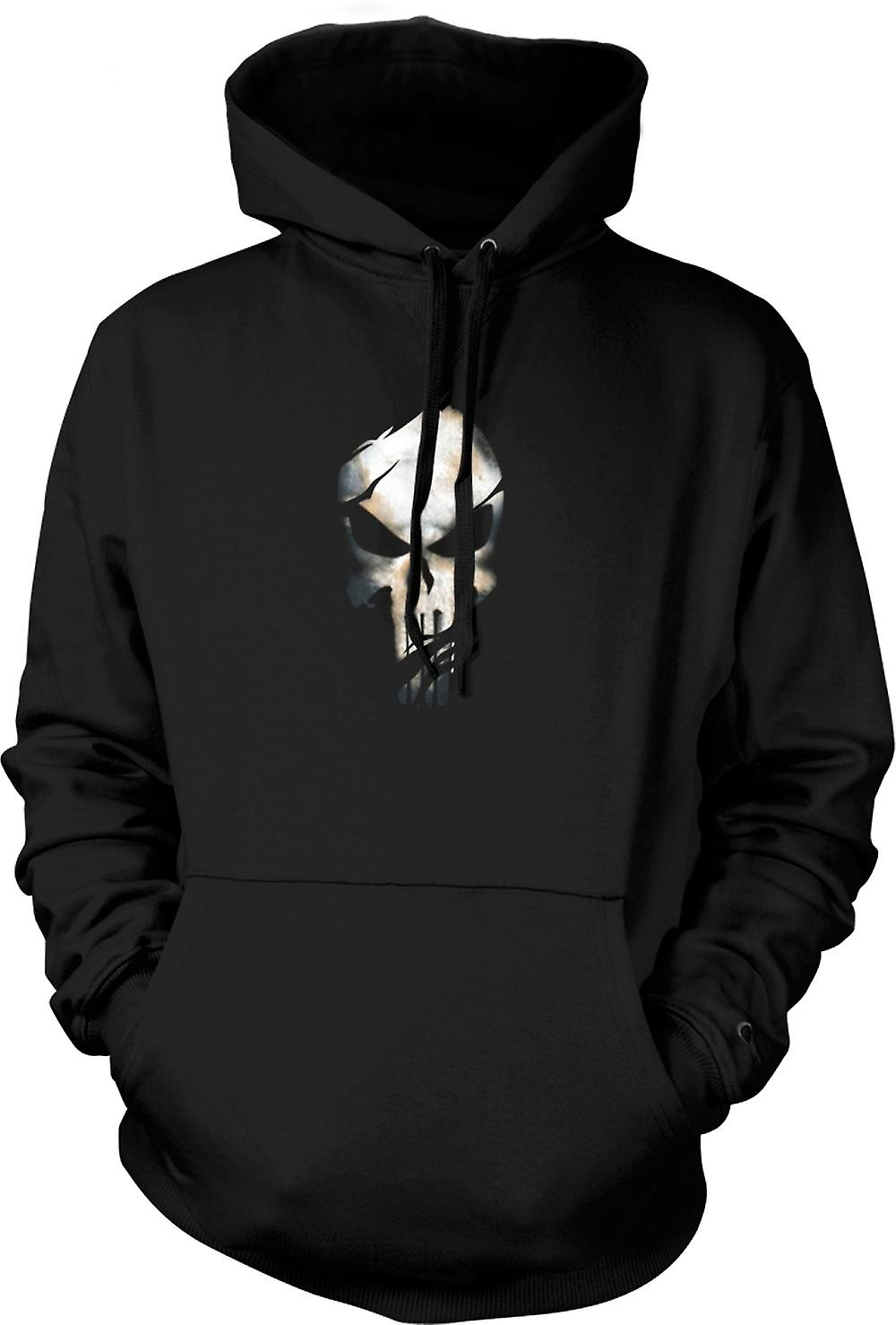 Mens Hoodie - The Punisher - Ripped Effect