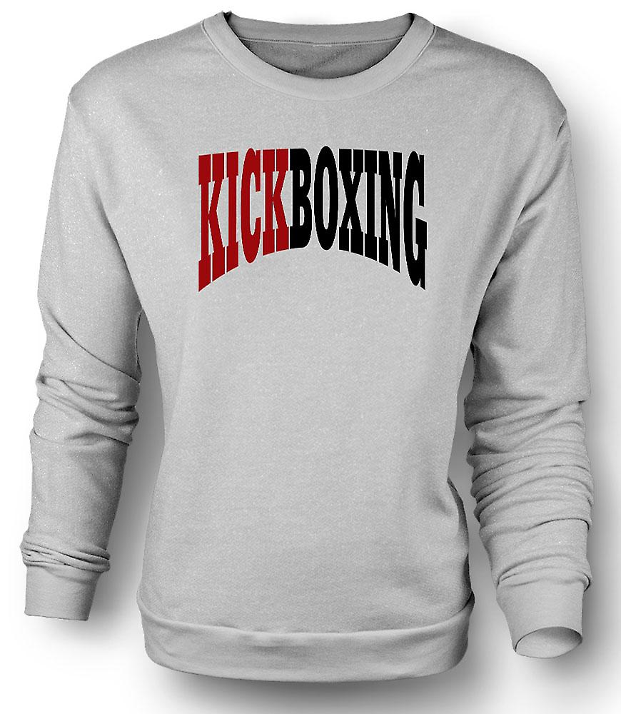 Mens Sweatshirt kickboksen - Martial Art - Slogan