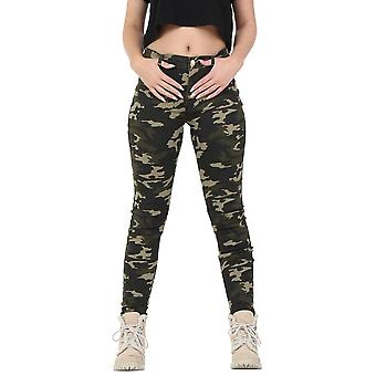 Army Camouflage Slim Skinny Stretch Trousers