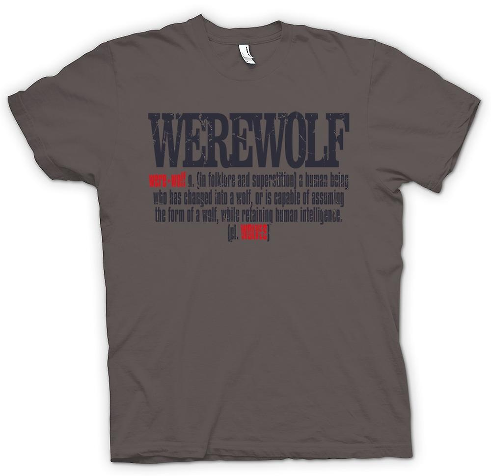 Heren T-shirt - Werewolf definitie - Cool Design