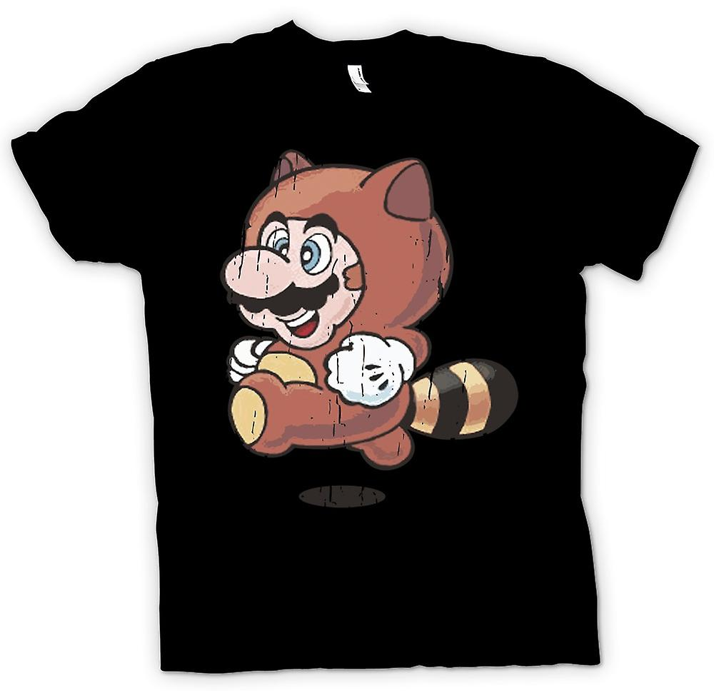 Kids T-shirt - Raccoon Mario - Super Mario Inspired