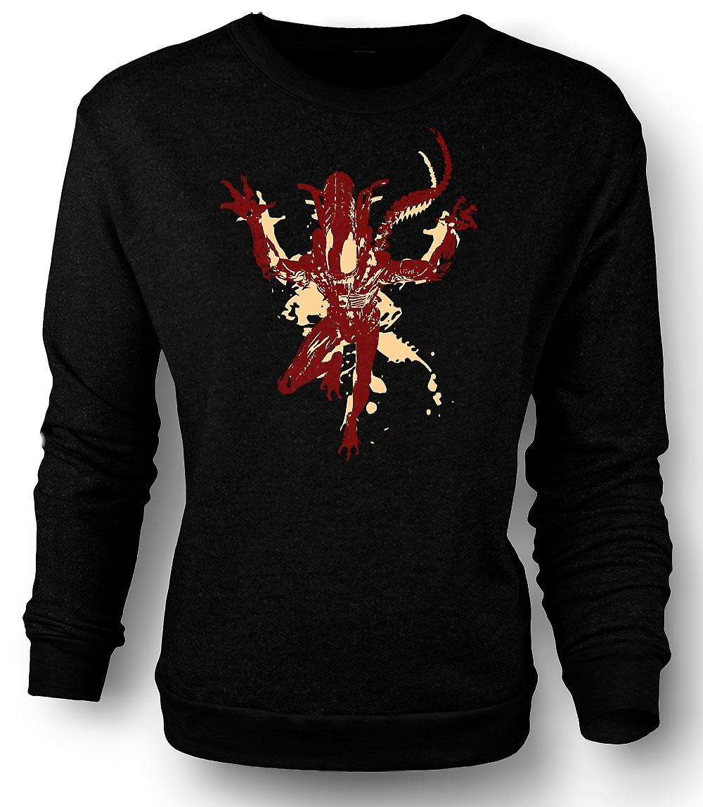 Mens Sweatshirt Alien - Pop Art - Sci-Fi - Horror-Film