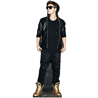 Justin Bieber wearing Gold Shoes Lifesize Cardboard Cutout / Standee