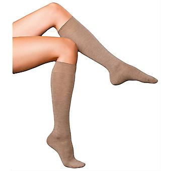 Falke Finest No1 Cashmere Knee High Socks - Nutmeg Brown Melange