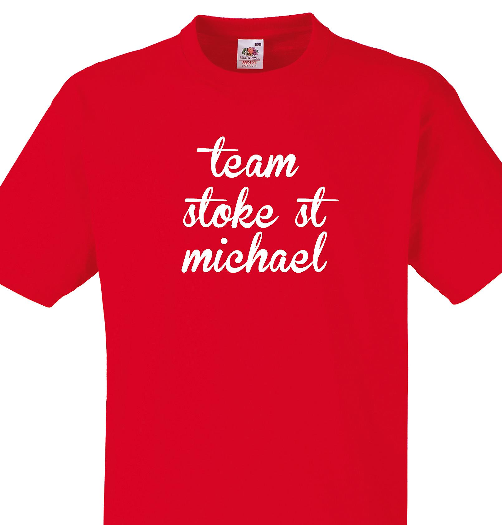 Team Stoke st michael Red T shirt