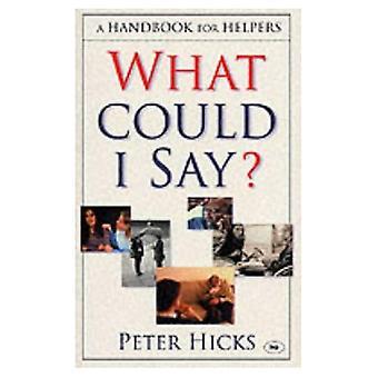 Vad kan jag säga?: en handbok för hjälpare