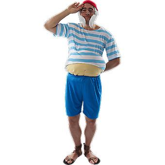Mens Tubby Pirate Caribbean Film Fancy Dress Costume