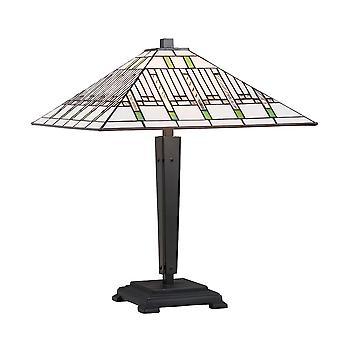 Misión medio estilo Tiffany lámpara de mesa - interiores 1900 70378
