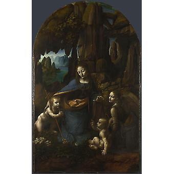 Vierge aux rochers, Leonardo Da Vinci, 60x38cm