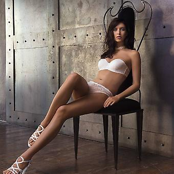 2fa977335 AMBRA Lingerie slips Chantilly String wit 1370