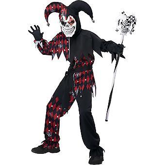 Boos Jester kind kostuum