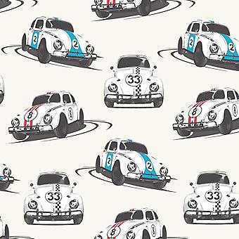 Cars Wallpaper Motoring Vehicles Speed Bug White Multicoloured Retro Muriva