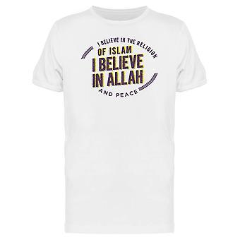 Believe In The Religion Of Islam Tee Men's -Image by Shutterstock