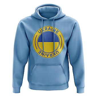 Ukraine Football Badge Hoodie (Sky)