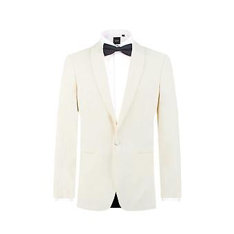 Dobell Mens hvit smoking middag jakke passer vanlig sjal jakkeslaget