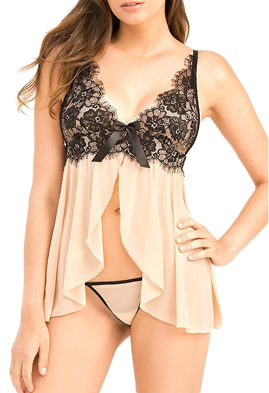 Waooh - Transparent Babydoll with lace neckline Buch