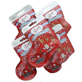 Team Rudolph REIN2 nese rein mini fig serie 1.5-5 Piece Pack folie vesker rød