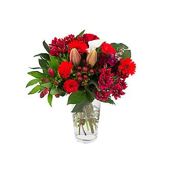 Bunch of Flowers Kim large, red | Height: 45 cm