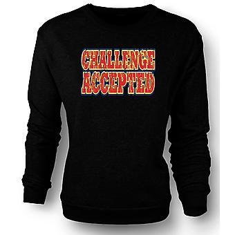 Mens Sweatshirt Challenge Accepted