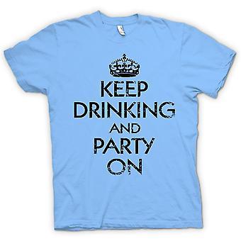 Camiseta mujer - mantener beber y partido en - gracioso
