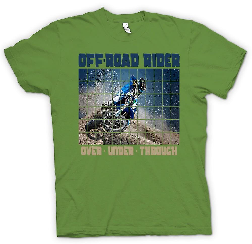 Mens T-shirt - Off Road Rider Over Under Through - Motocross