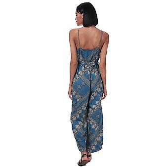 Womens nur Diana Schal Print Jumpsuit In Blue Horizon