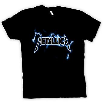 Womens t-shirt - logotipo do Metallica - Rock Metal