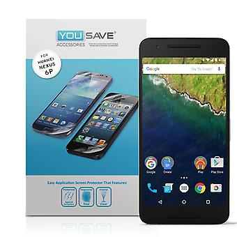 Yousave Accessories Huawei Nexus 6P Screen Protectors x5