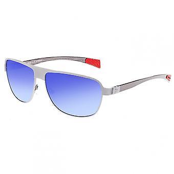 Breed Hardwell Titanium and Carbon Fiber Polarized Sunglasses - Silver/Blue