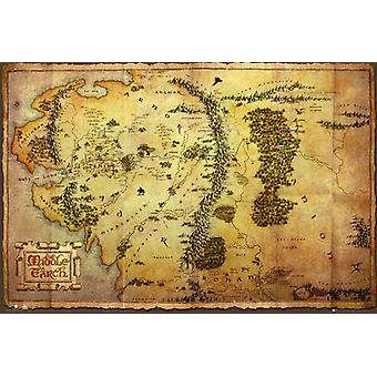 De Hobbit kaart Maxi Poster 61x91.5cm