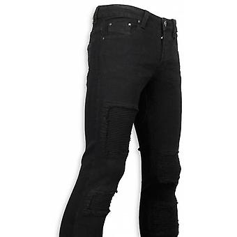 Exclusive Biker Jeans-Slim Fit Biker Jeans-Black