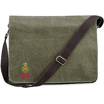 Engenheiros reais em primeiro lugar na última fora-licenciado British Army bordados lona vintage Despatch Messenger Bag