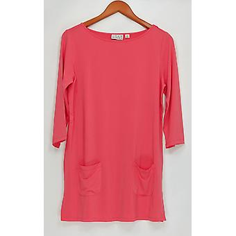 Joan Rivers Classics Collection Women's Top 3/4 Sleeve Bright Pink A262272