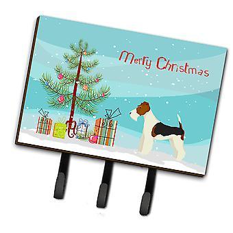 Carolines Treasures  CK3538TH68 Fox Terrier Christmas Tree Leash or Key Holder